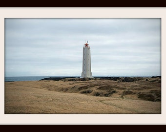 Iceland Photography, Lighthouse Art, Beach Decor, Iceland Art, Lighthouse Print, Shore Decor, Landscape Photography