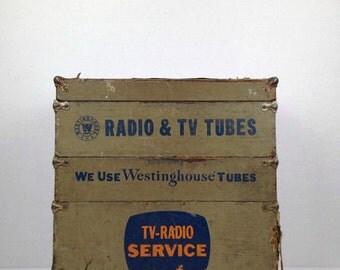 Original 1940s Westinghouse TV Radio Servicemans Repair Kit Radio Tube Repair Kit Vintage Original Westinghouse Tube Service Kit Old