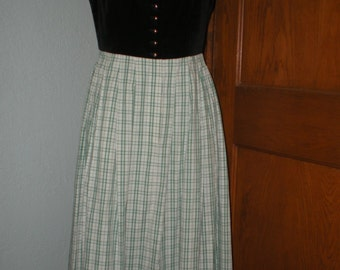 Austria Dirndl original Tostmann Trachten Size 44 (US size 14) Costume Dress for German Folk Oktober Fest Black & Green Plaid
