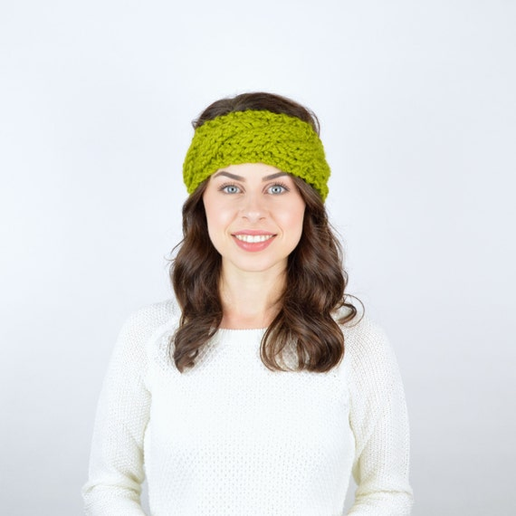 Cabled Headband Chunky Knit Cabled Earwarmer // by TheUnknotting