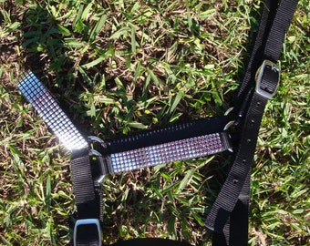 Head Collar / Halter With Gold, Silver, Butterfly or Flower Trim - Horse / Pony