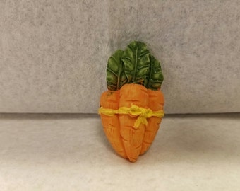 Vintage Bunch of Carrots Brooch - Easter Brooch/Pin