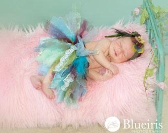 SALE.....Pink MOngolian Faux Fur Prop, Newborn Photo Prop, Basket Filler, Posing Fabric, READY to SHIP.
