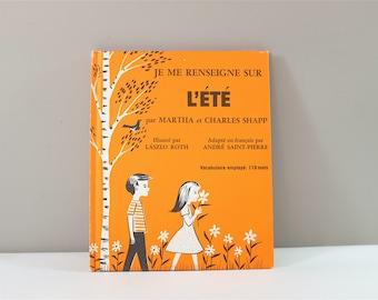 Vintage children book, Je me renseigne sur l'été, 1971 - Vintage french children book 1971 - Learn about the safety