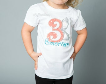 Girls birthday fairy shirt ANY AGE COLORS embroidered personalized name first second third birthday
