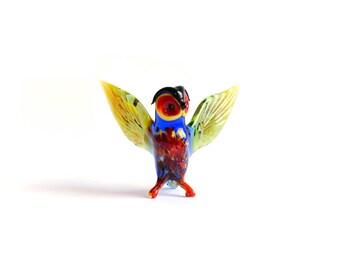 Glass Owl Figurine Glass Figure Glass Figurine Glass Bird Figurine Owl Figure Glass Animal Sculpture Animal Figurine