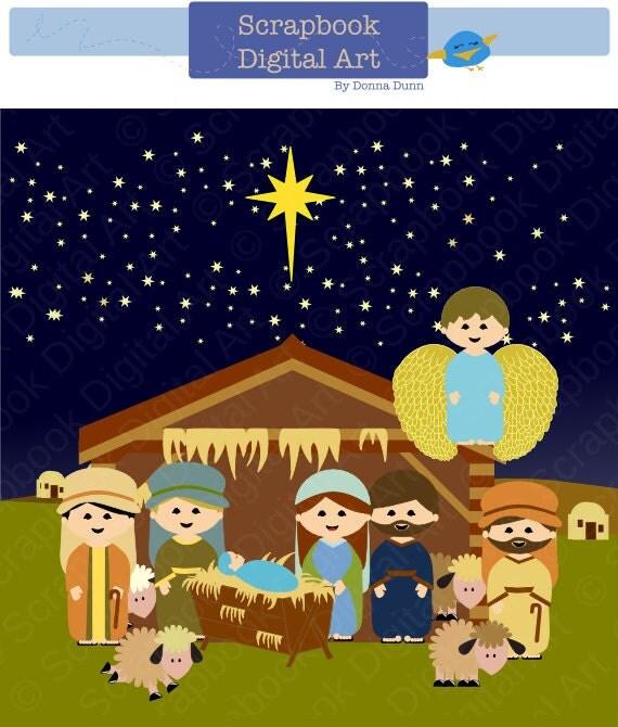 Clip Art Nativity Scene Clipart nativity scene clip art christmas by scrapbookdigitalart clipart navidad background clipart