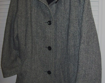 Jacket 12,  Herman Kay Herringbone Wool Short Jacket Size 10 - 12 see details