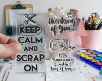 KEEP CALM Clear Stamps