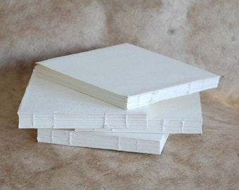 Blank Book Blocks from Khadi, Rough surface 210 gsm Cotton Rag Paper handmade in India, Book-making supplies