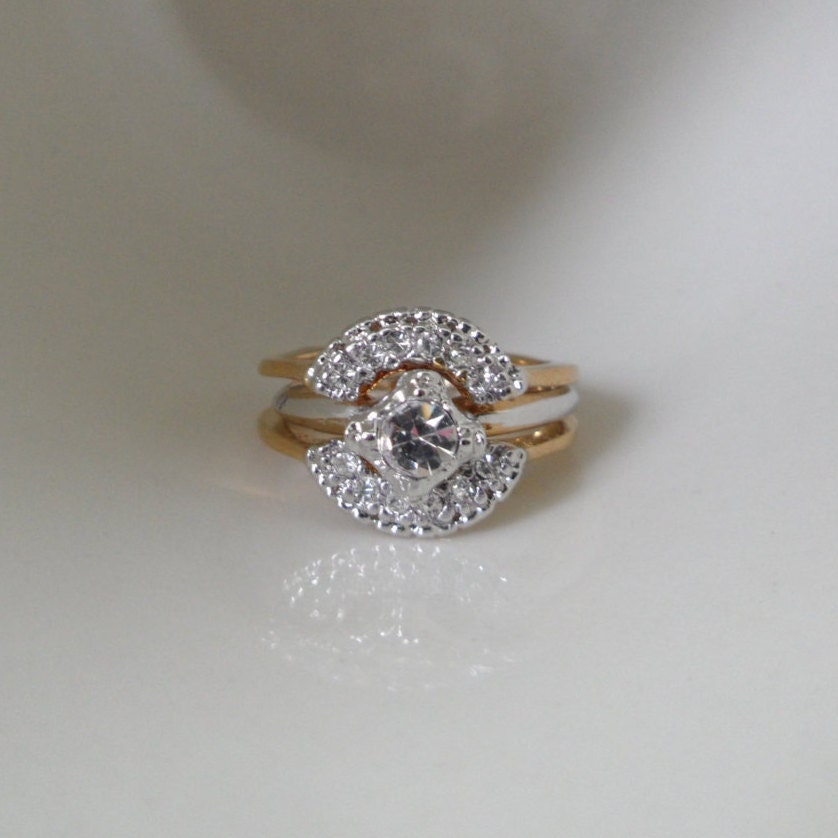 Deadstock Wedding Ring Enhancer Size 5 5 Ring Espo Ring Double