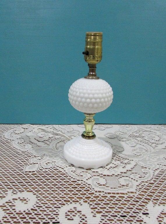 milk glass table lamp shabby chic d cor beach bedroom