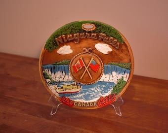Vintage Niagara Falls Canada Souvenir Plate Made in Japan