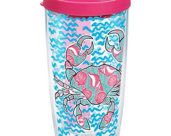 Tervis 16oz Simply Southern Crab Tumbler with Lid