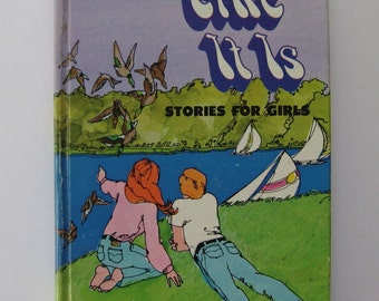 Like It Is : stories for girls. Vintage book. Hardcover Whitman anthology 1972. Very cool graphics, retro modern.