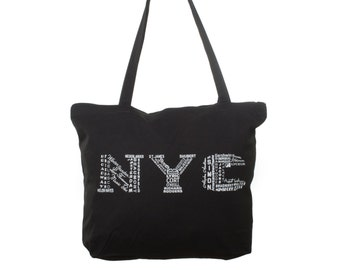 NYC/Broadway 2015 -- Zipper Tote Bag