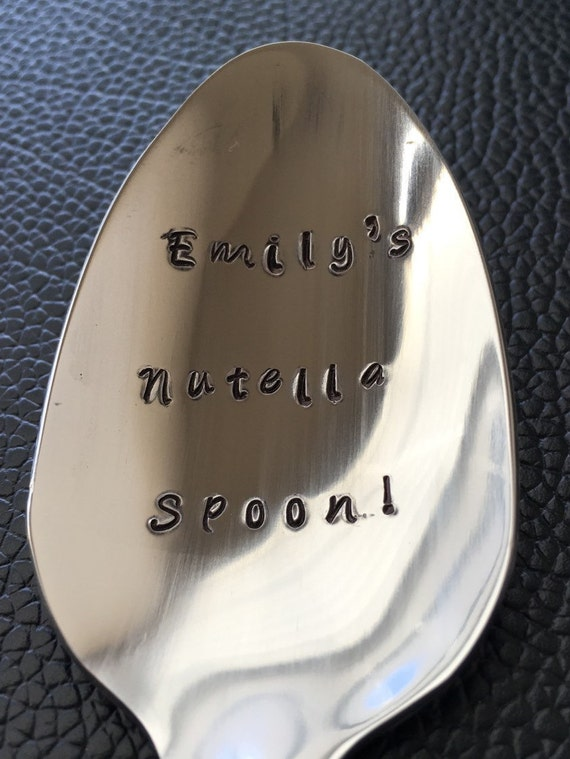 Personalized Nutella Spoon