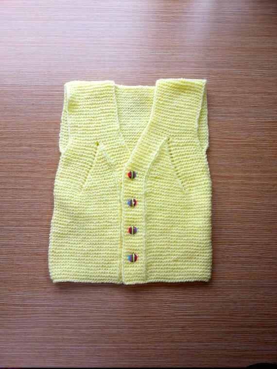 Toddler Boy Yellow Sweater Vest 44