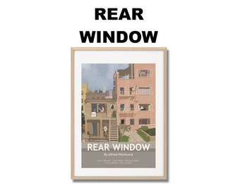 Rear Window Movie Print - Poster Alfred Hitchcock A3