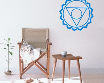 Wall Decal, Vishuddha Chakra, Throat Chakra, Chakra Wall Decal, Hindu Wall Decal, Vajrayana, New Age Decal, Yoga Wall Stickers