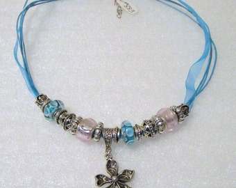 883 - Aqua Beaded Necklace