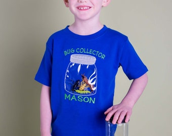 Boy's Bug Shirt with Jar and Plastic Bugs