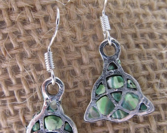 Handmade Silver and Clay Celtic Knot earrings