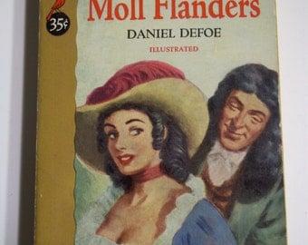 Moll Flanders by Daniel Defoe Cardinal Books C-44 1952 Vintage Romance Paperback