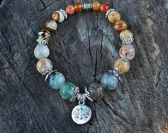"Creativity bracelet - reiki jewelry - healing crystals and stones - artist jewelry - ""The Artist"""