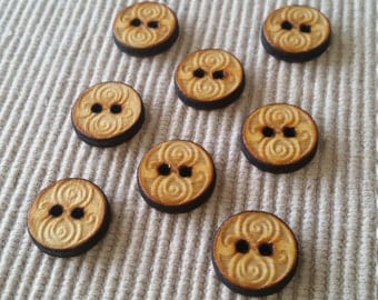 Gallifreyan Seal Dr Who Sew-on Buttons (8)