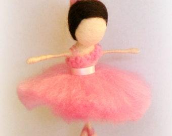 Ballet dancer/Felted ballerina, Waldorf style ballerina ornament