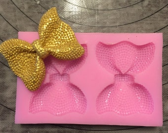 2 pc Textured Large Bow Set