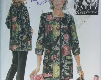 Workin Apron, Simplicity 4746 Hobby Coat Apron  Pants and Bag Pattern by Patty Reed sizes XS to M uncut