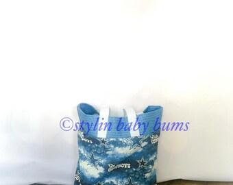 small Cowboy tote bag- FREE SHIPPING