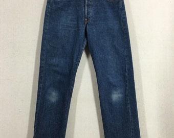 Vintage Levis 501XX Dark Denim Jeans Sz 29x30 USA