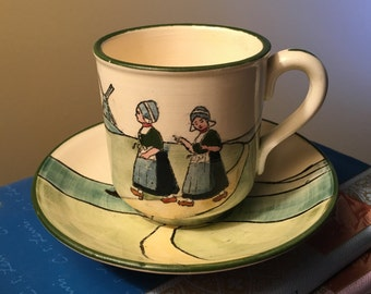Haag hand painted tea cup made in Austria from the 1920s