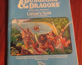 Dungeons and Dragons module Lathan's Gold XSOLO 9082 TSR
