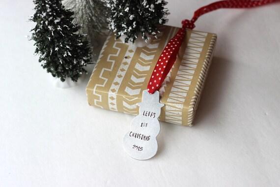 Custom ornament personalized christmas metal