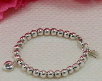 Pure Love Sterling Silver Tiny Bead Bracelet