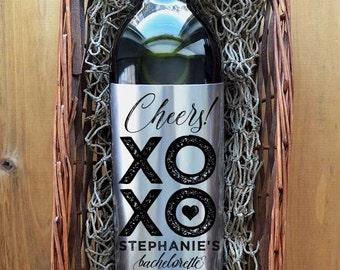 Bachelorette Wine Labels - Bachelorette Party Wine Labels - Set of 4