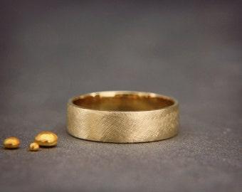 SALE Black 14k Rose Gold Mens wedding ring Handmade 14k