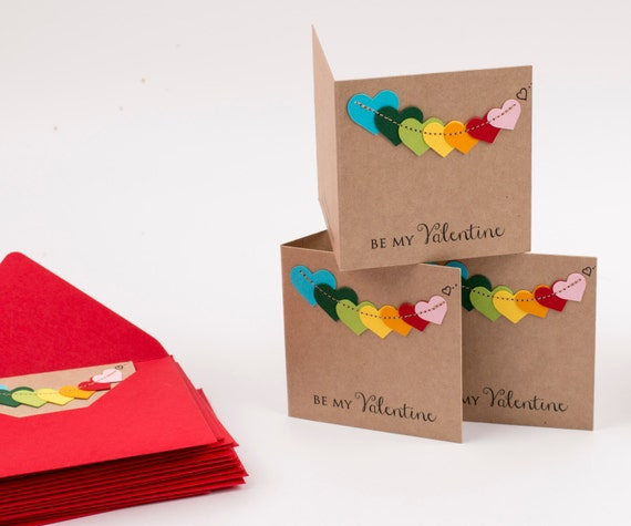 Kids Valentines Cards - Valentines School Pack set (Qty 12) - Personalized Kids Valentine set