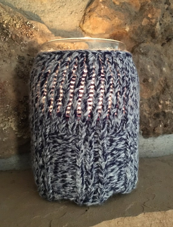 Sweater Candle Jar Cozy - a loom knit pattern