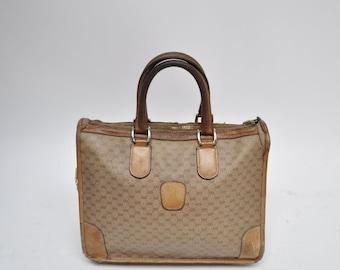 vintage GUCCI bag PURSE handbag tote monogram 1970s 1980s