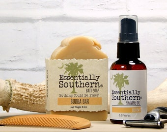 Dual Use Pre-Shave Oil and Bar Soap, Made with Beer, Bay Rum Fragrance, Beard Oil, Fathers Day, Includes Beard Comb, Mens Shaving, Grooming