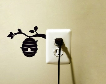 Beehive Velvet Wall Decal