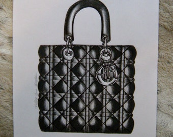 Original Dior Purse Illustration