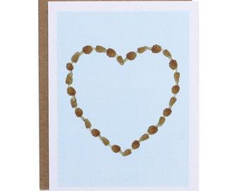 Morel Heart Card