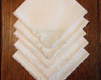 5 Linen Napkins