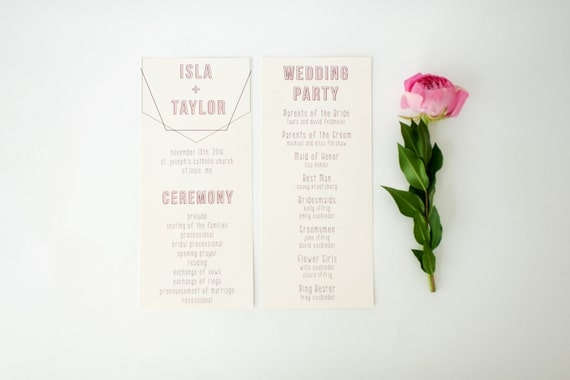 isla wedding programs (sets of 10)  // lola louie paperie